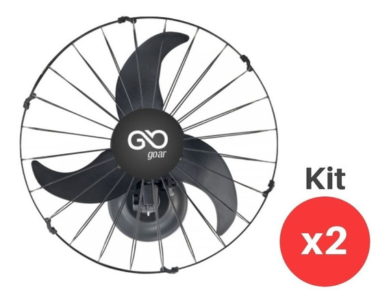 Ventilador Parede Oscilante 50cm Bivolt 180w Go Ar Kit 2 Un
