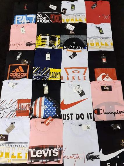Kiti Com 20 Camiseta Várias Marcas E Modelo P,m,g,gg