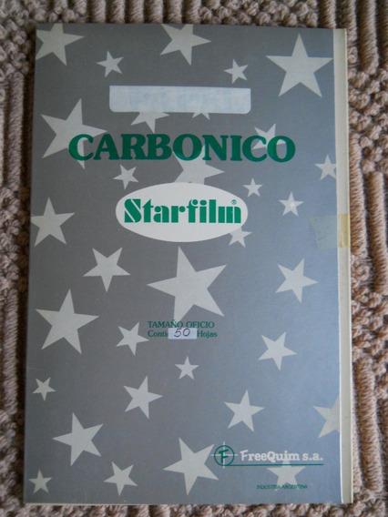 Papel Carbónico Negro Caja 50 Hojas Oficio Starfilm