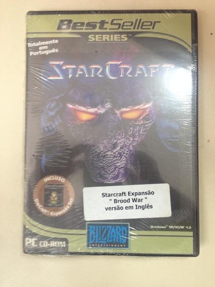 Starcraft Game Pc Original Lacrado + Expansão Brood War Raro