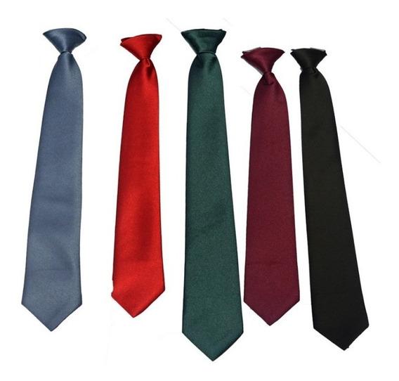 Corbata Colegio Azul, Negra, Gris, Verde Y Rojo Uniforme