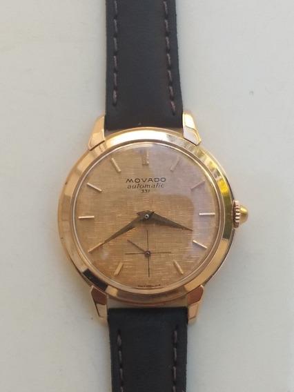 Relógio Movado Bumper 331. Ouro 750. Antigo E Coleção