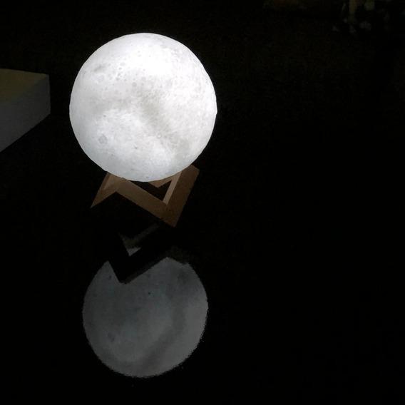 Lampra De Luna 3d Grande Luz Blanca Fría