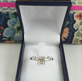 Anillo Oro Blanco 18 K Diamante 100 Puntos 4.30 Gramos .nº17
