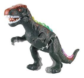 Dinossauro Dino Valley Rex Emite Som E Luz Verde Ou Vermelho