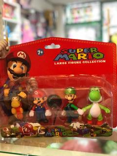 Mario Bros Set X 4 Unidades De Pvc Entre 10 Y 12 Cm