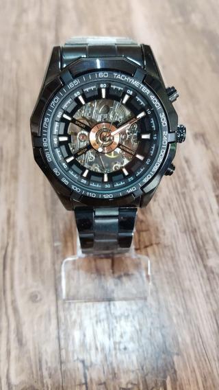 Relógio Forsining Masculino Automático Preto Original