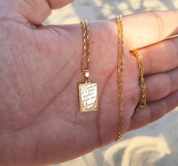 Kit Cordão, Corrente Banho Ouro 10 Camadas Garantia 1 Ano