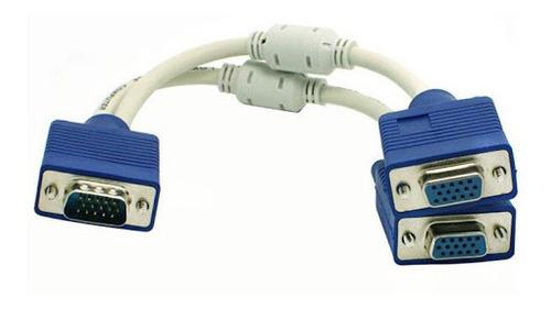 Cable Splitter Multiplicador Vga 1 Macho 2 Hembras 2 Unidade