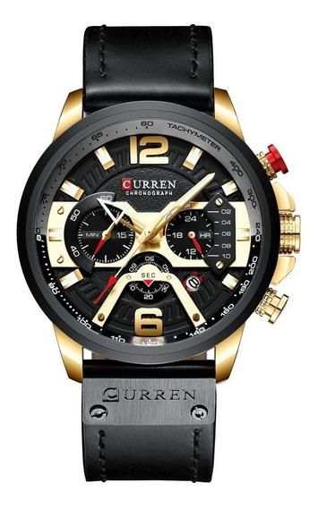 Relógio Curren 8355 Preto A Prova D