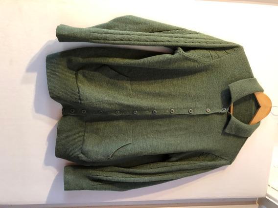Cardigan Saco Sweater Verde Talle L