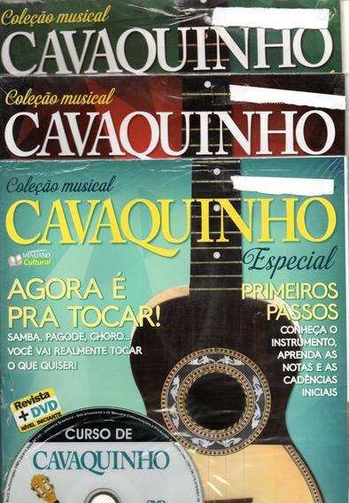 Curso De Cavaco 1,2,3 - Iniciante,intermed,médio Revista+dvd