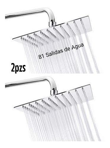 Paquete 2 Regaderas De Lujo Con Tubo De 40cms Y Chapeton