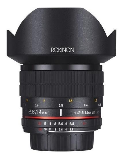 Lente Rokinon 14mm Ultra Wide F/2.8 C Chip Ae P/ Nikon Sale