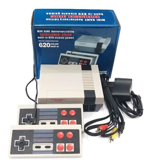 Mini Nintendo Vídeo Game Retro 620 Jogos Super 2 Controle