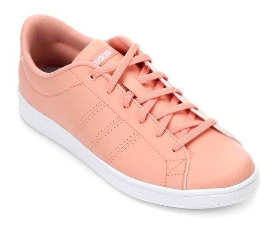 Tênis adidas Advantage Clean Qt Feminino - Pink E Branco