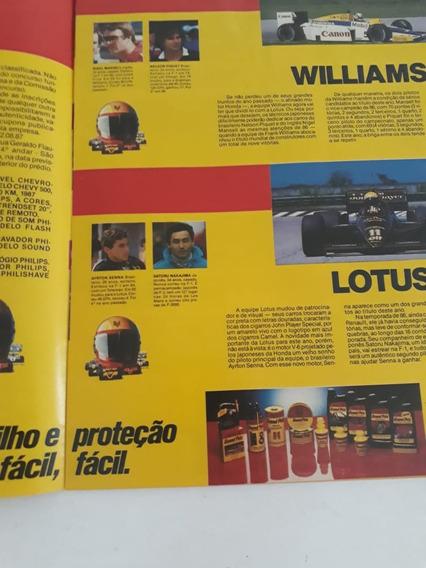 Encarte Suplemento Fórmula 1 Senna Piquet Pr Grand Prix 1987