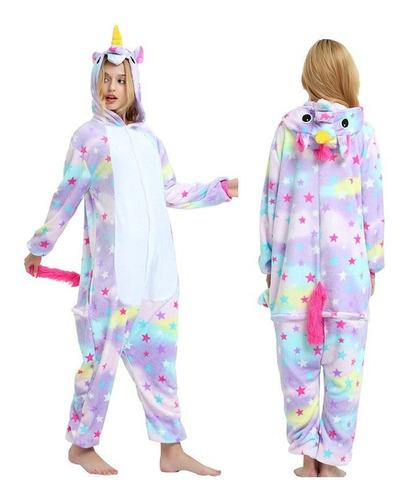 Unicórnio Estrelado Pijama Macacão Kigurumi - Pronta Entrega