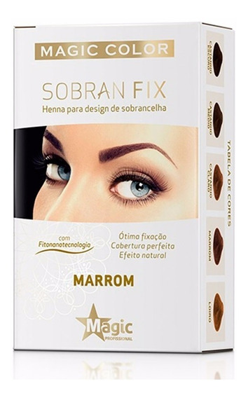 Henna Para Sobrancelhas Sobran Fix Magic Color Marrom