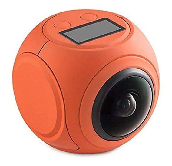 Câmera De Ação 360° Graus Com Óculos Vr Hd Full Sport Atrio