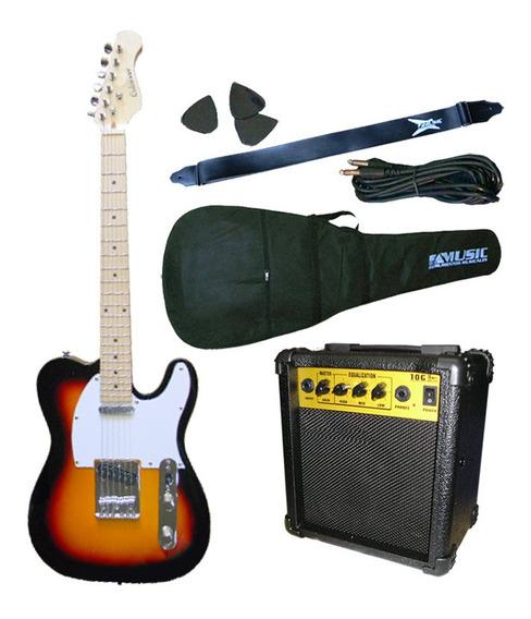 Combo Guitarra Electrica Crimson Seg287 + Funda + Amplific