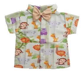 Camisa Infantil Social Temática Safari Baby - Roupa/festa