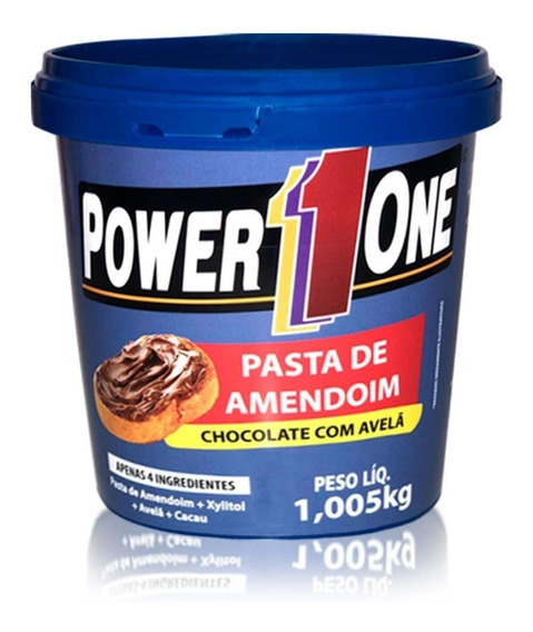 Pasta De Amendoim Chocolate Avelã 1kg Power One Lançamento