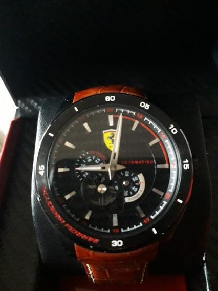 Relógio Scuderia Ferrari Masculino Couro Marrom - 830107