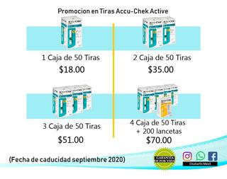 100 Tirillas Acucheck Active