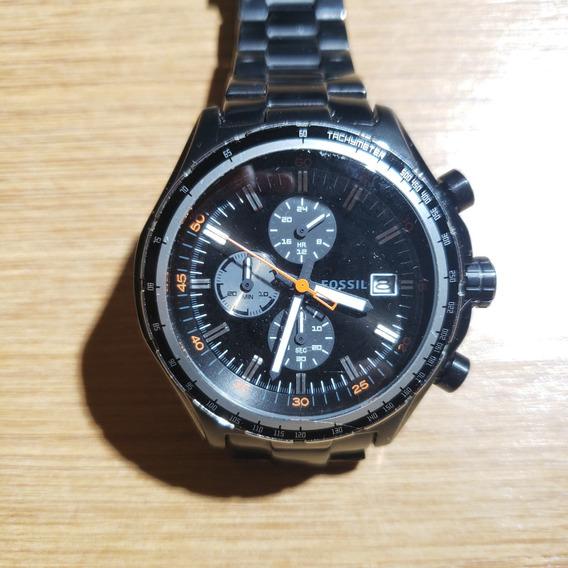 Relógio Fossil Ch2754 Metal Black Original Preto Masculino