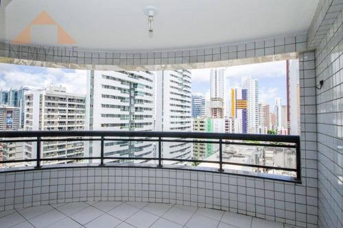 Apartamento Com 3 Quartos Para Alugar, 98 M² Por R$ 3.630/mês - Boa Viagem - Recife/pe - Ap0532