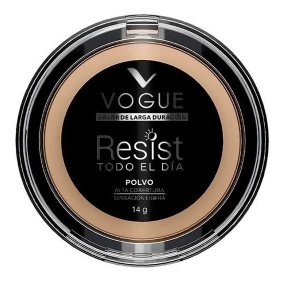 Maquillaje Polvo Compacto Resist Glamour Contenido 14g Vogue
