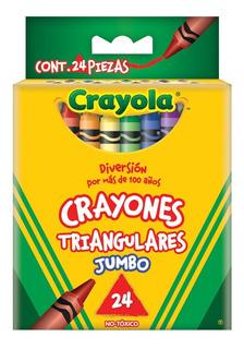 24 Crayones Jumbo Triangulares