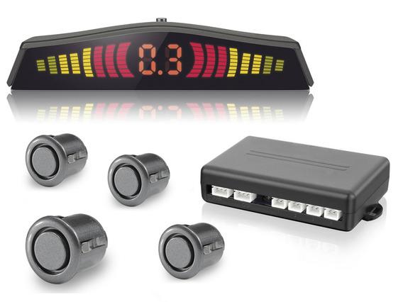 Sensor Estacionamento Ré Grafite Display Sonoro Sensor Mini