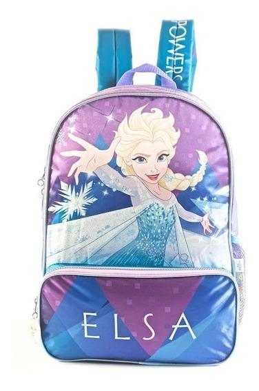 Mochila Frozen Elsa Espalda 16 Pul. Original Disney Art88302