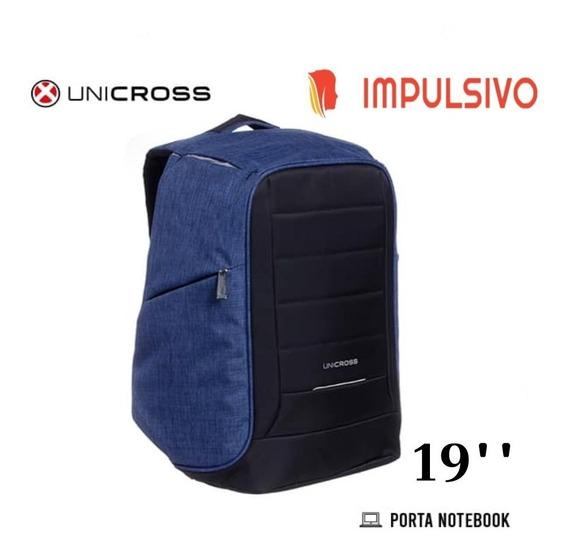 Mochila Unicross Anti-robo 19