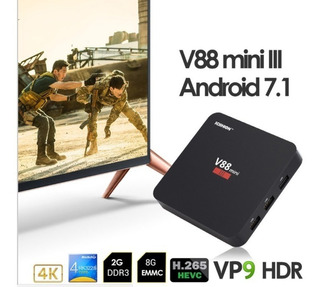 Scishion V88 Mini Iii Tv Box -4k Android 7.1- 2gb Ram