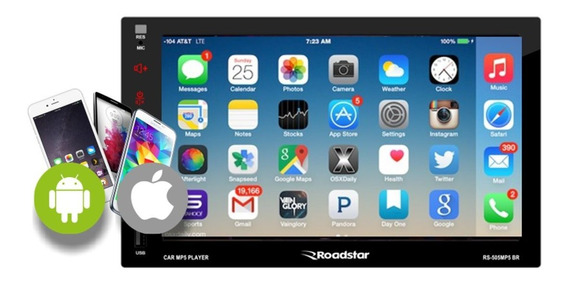 Multimidia Roadstar Bluetooth Mp5 Esp Android E iPhone