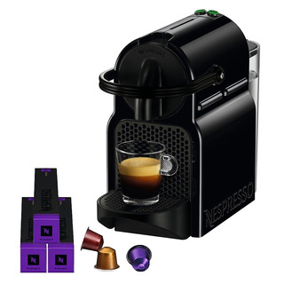 Cafeteira Nespresso Inissia D40 Preta 110v + 14 Cápsulas