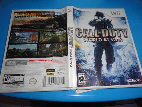 Call Of Duty World At War Original Nintendo Wii Wiiu