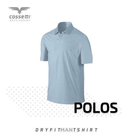 Playera Tipo Polo Cossetti Manga Corta Dry Fit Xl, 2xl, 3xl