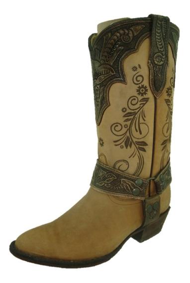Bota Dama Puntal Paja Crazy Terminados Cobre African Boots