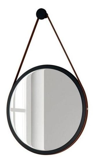 Espelho Redondo Decorativo Adnet Com Alça 50cm