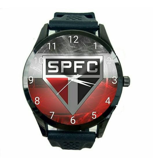 Relógio São Paulo Masculino Futebol Esporte Tricolor Fc T187