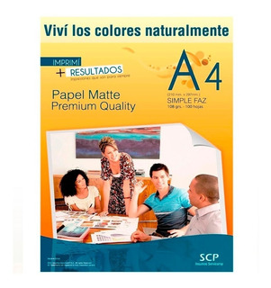 Papel Fotografico Mate A4 108gr X 100 Hojas - Scp