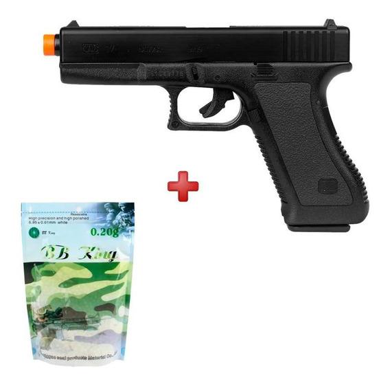 Pistola Glock G7 Airsoft Spring Kwc + Bbs 0.20g 5000un.