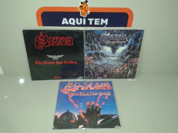 Lp Saxon The Eagle Power Rock The Nations - Lote