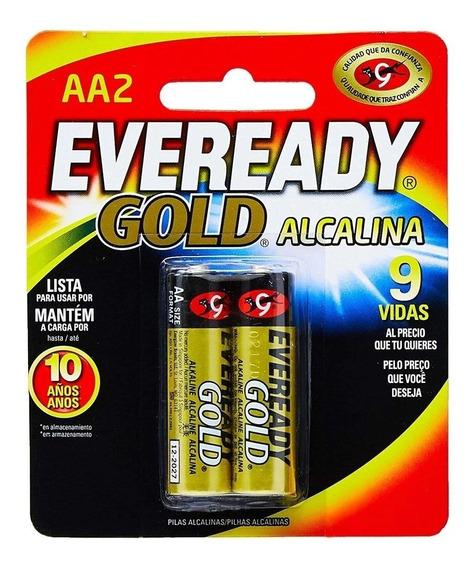 Pilhas Alcalinas Pequena Aa - Cartela Com 2 Unidades