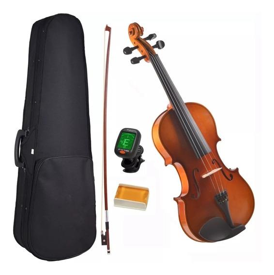 Violino Makanu Violins 4/4 C/ Estojo + Arco+ Breu + Afinador