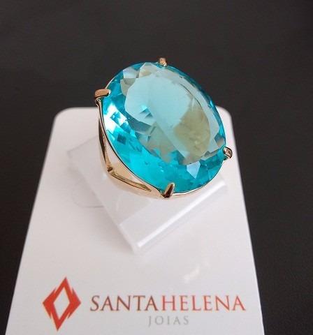 Anel Cristal Azul Aro 19